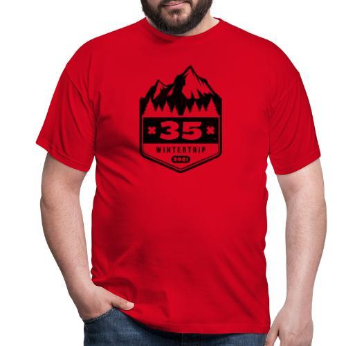 35 ✕ WINTERTRIP ✕ 2021 • BLACK - Mannen T-shirt