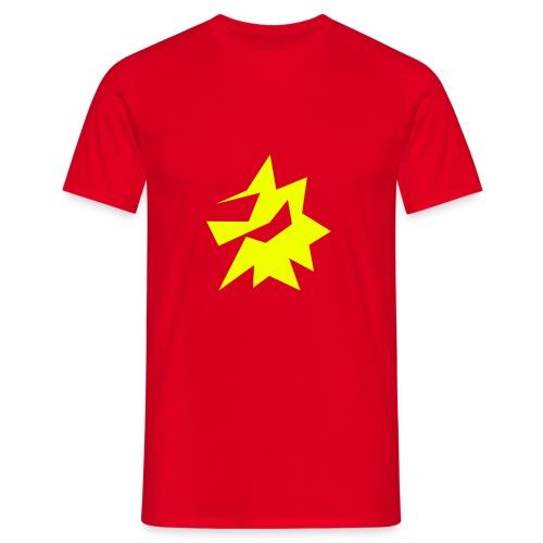 Gelbe Zeichnung / Pflegestufe Single - Männer T-Shirt