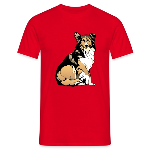 Collie hund - T-shirt herr