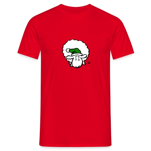 Santa Sheep (green) - Men's T-Shirt