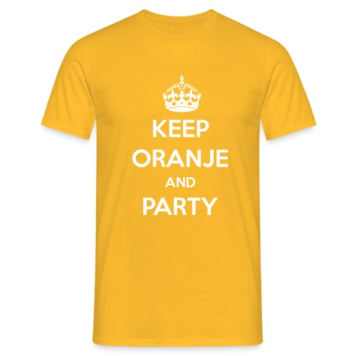 KEEP ORANJE AND PARTY - Mannen T-shirt