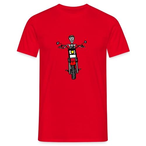 calavera moto - Camiseta hombre