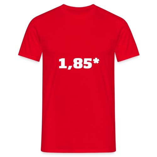 1 85 front - T-skjorte for menn