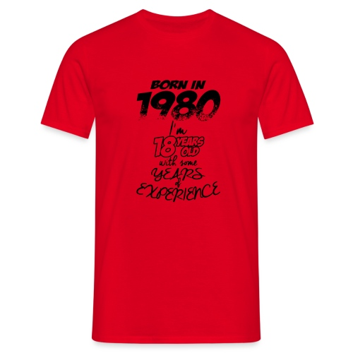 born In1980 - Men's T-Shirt