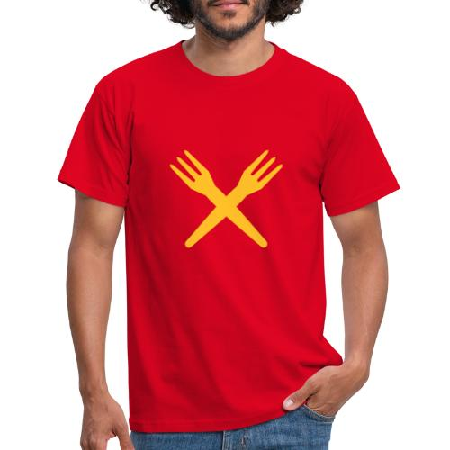 gekruiste frietvorken - trident - T-shirt Homme