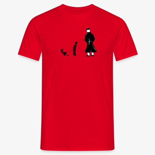 "Pissing Man against ""I can not piss properly guy"" - Männer T-Shirt"