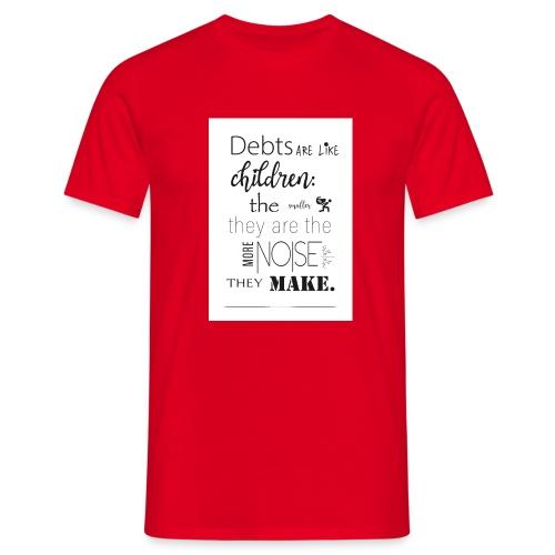 Children's Debt - Men's T-Shirt