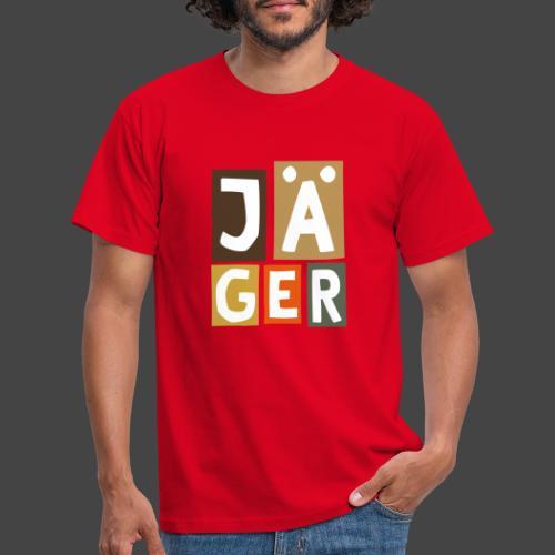 Geblockter Jäger - original Jägershirt - Männer T-Shirt
