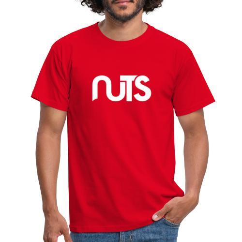 Nuts logo wit - Mannen T-shirt