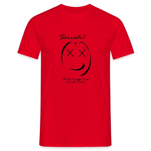 sorridi smile - Maglietta da uomo