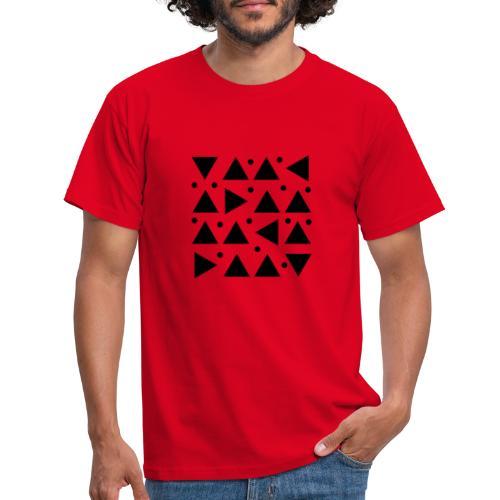 Dreieck Muster - Männer T-Shirt