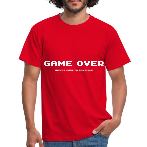 Game Over Insert Coin To Continue - T-shirt herr