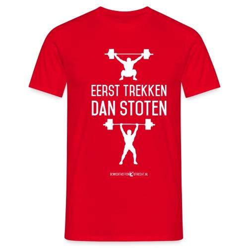 Gewichtheffen Utrecht Trekken Stoten Shirt - Mannen T-shirt