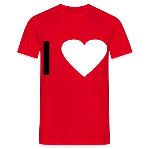 I love - Heart (modern) - Männer T-Shirt