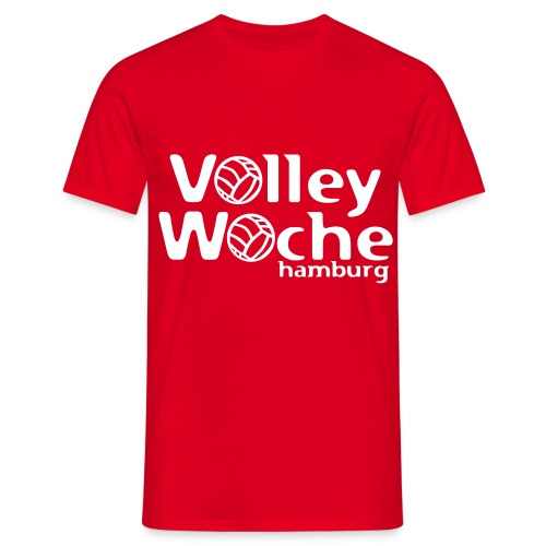 logo volleywoche weiss - Männer T-Shirt
