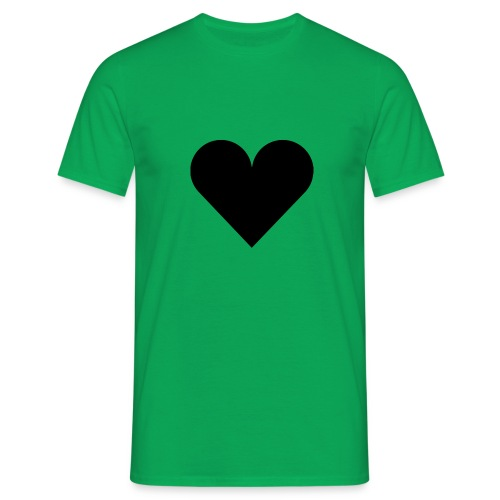 heartplainblack - Miesten t-paita