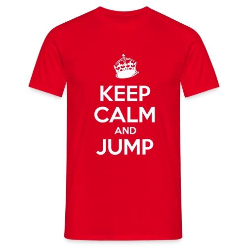 Keep Calm and Jump - Männer T-Shirt
