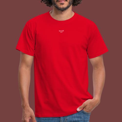 bouuff hvit tekst - T-skjorte for menn