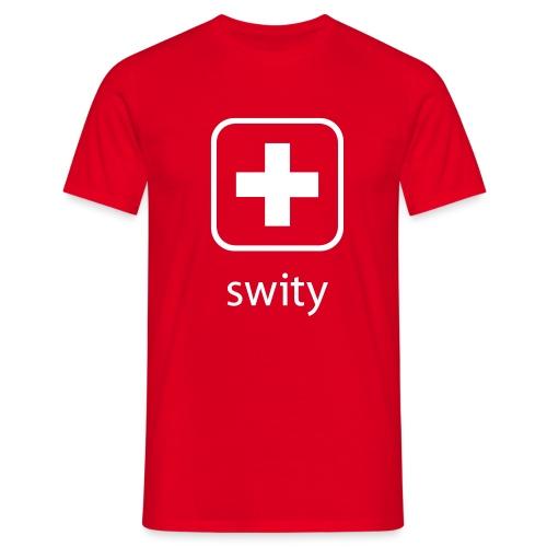 Schweizerkreuz-Kappe (swity) - Männer T-Shirt