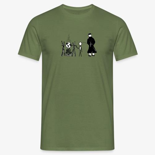 Pissing Man against human self-destruction - Männer T-Shirt