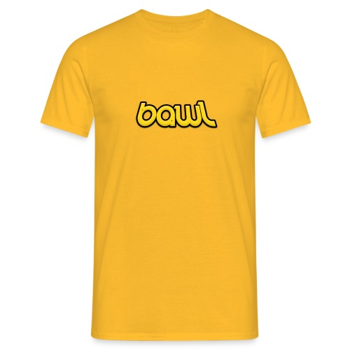Bawl logo gul - Herre-T-shirt