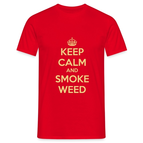 KEEP CALM and SMOKE WEED - T-shirt herr