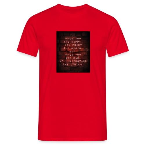 SAD SONGS red - Männer T-Shirt