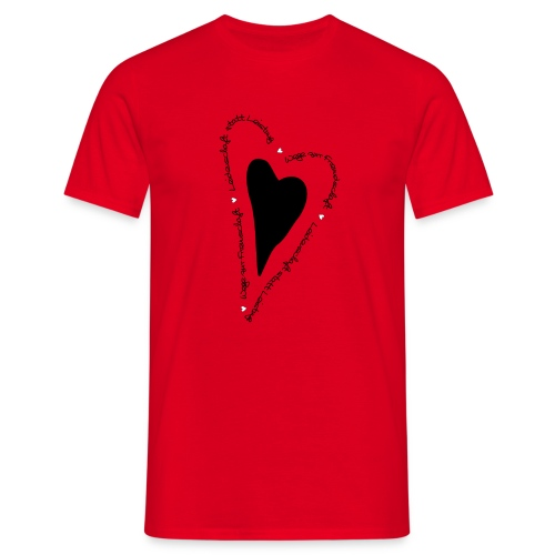 Ullihunde - Herz - Männer T-Shirt