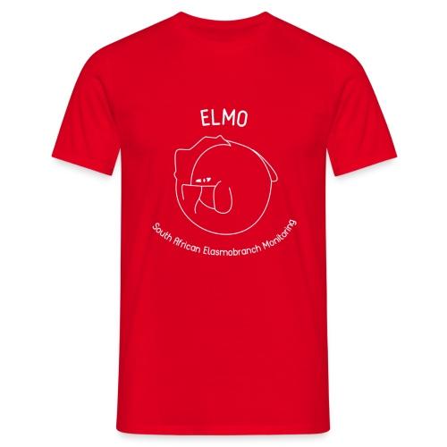 elmo logo large white - Men's T-Shirt