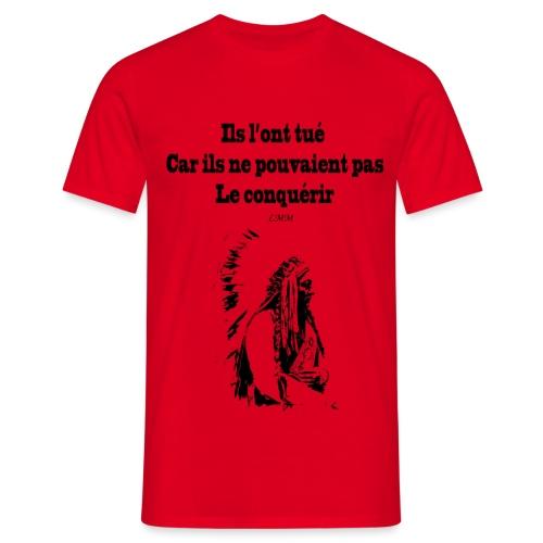 Crazy Horse maxi black png - T-shirt Homme