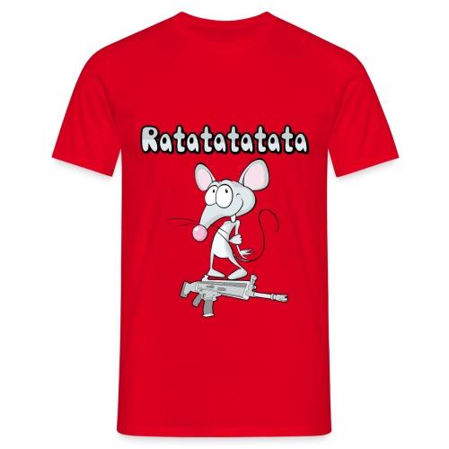 rata mouse pet dibujos animados cartoon funny art - Maglietta da uomo