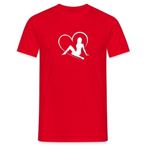 flirtfair logo woman - Men's T-Shirt