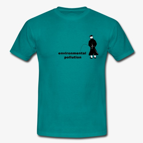 Pissing Man against Environmental Pollution - Männer T-Shirt