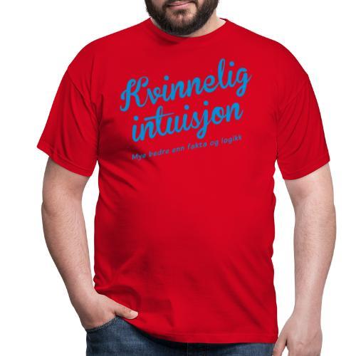 kvinneligintuisjon01b - T-skjorte for menn