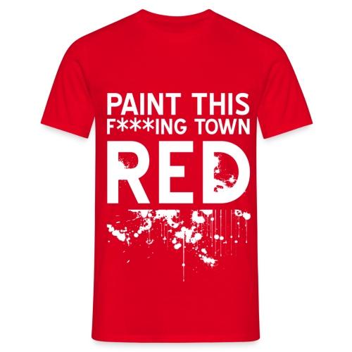 red - T-skjorte for menn
