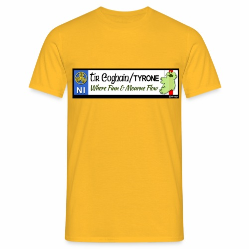 TYRONE, NORTHERN IRELAND licence plate tags decal - Men's T-Shirt