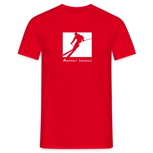 blockskiwithtextorange - Men's T-Shirt