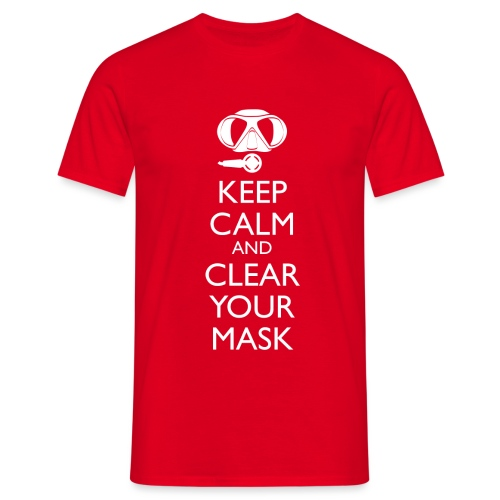 Keep Calm and clear your Mask Männer Tank Top - Männer T-Shirt
