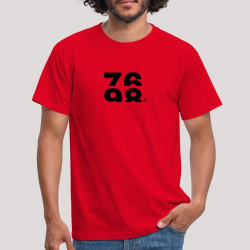 Numbers (Black) - Men's T-Shirt