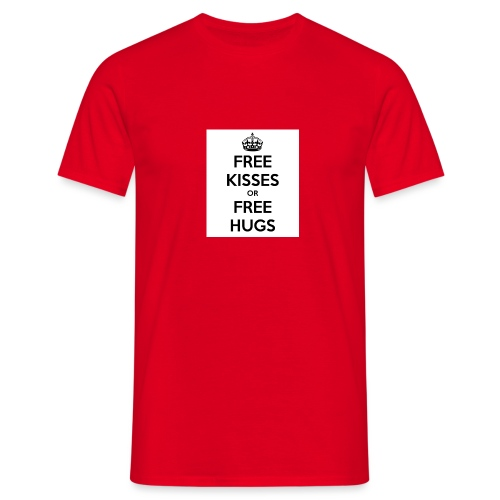 free kisses or free hugs - Mannen T-shirt