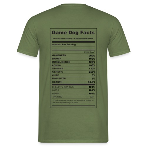 game dog facts - T-shirt Homme