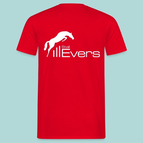 evers logo mit pferd weis - Männer T-Shirt