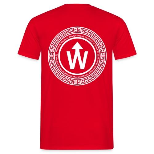 wit logo transparante achtergrond - Mannen T-shirt