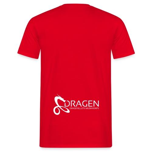 Dragelogo Hvit - T-skjorte for menn