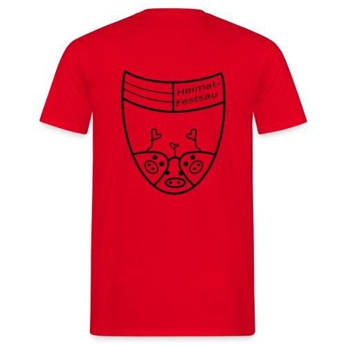 Heimatfestsau - Männer T-Shirt