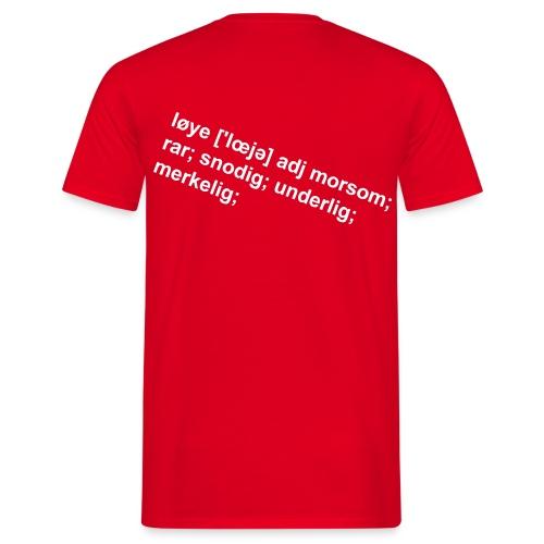 Løye - trykk på ryggen herre - T-skjorte for menn