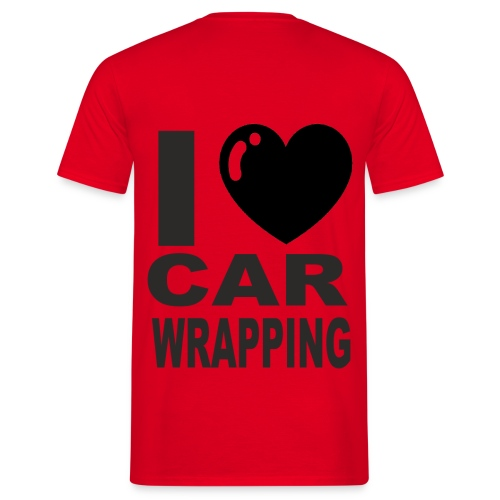 Love car wrapping png - Männer T-Shirt