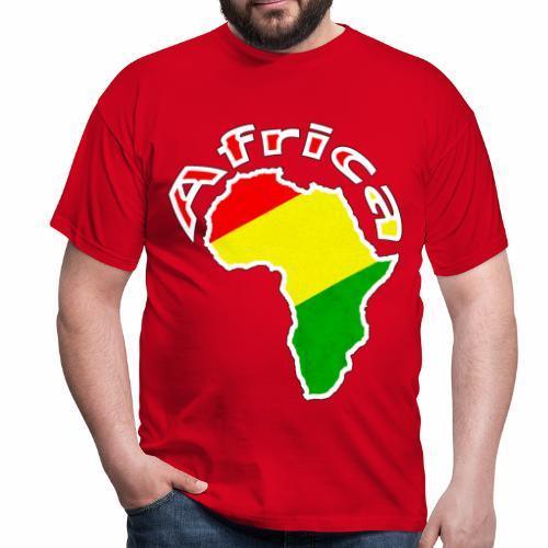 Afrika - rot gold grün - Männer T-Shirt