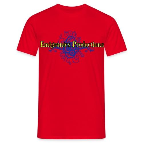 Emigrantes Productions logo SVG 3 couleurs - T-shirt Homme