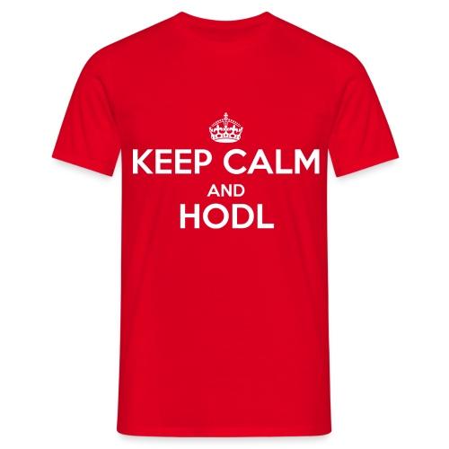 Keep Calm and HODL - Männer T-Shirt